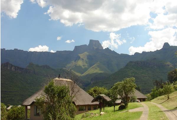 Royal Natal Park from Thendele rest camp in the Drakensberg