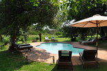 Thula Thula Private Game Reserve - Pool area at the Tented Camp
