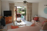 Pelican Lodge - Self Catering Unit lounge / garden access