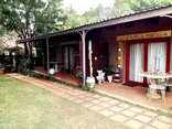 Adams Eden Guest House and Self Catering - Covered patios for three rooms.