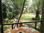 Adams Eden Guest House and Self Catering - Guadalupe patio views of North garden