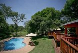 Thula Thula Private Game Reserve - pool and lapa at tented camp