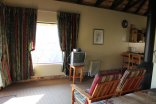 Giants Castle - Drakensberg - View infront of the bed in a 2-Bed Chalet