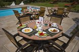 Dongola House - Breakfast by the pool