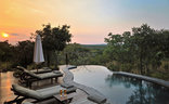 Zwahili Private Game Lodge and Spa - Pool sunset