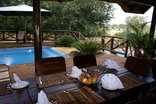 Crocodile Kruger Safari Lodge - Pool deck breakfast