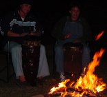 Roosfontein Bed and Breakfast/Coference Centre - Bon fire - drumming
