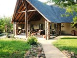 Shikwari Game Reserve - View of Main lodge Veranda