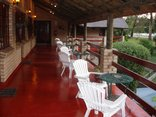 Storms River Guest Lodge - Veranda with view of the garden