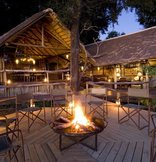 Botswana Safari Camps - Camp fire in main area