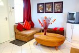 Constantia Cottages - Cottage Chardonnay - Lounge with Sleeper Couch