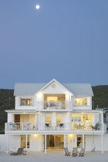 White House Beach Villa - White cladded, 3 storey  Beach House