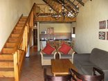 Lekoa Lodge - Single Chalet Living Area