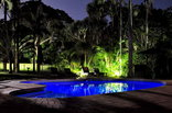 Avalone Guest House - Main pool at night
