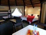 Andanté Game Farm - Inside a 6-bed rondawel