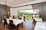Montagu Vines - Breakfast Room overlooking the Olive Grove