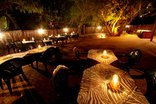 Emdoneni Lodge with Cheetah Project and Spa - The boma at night