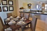 Westpoint Executive Suites - Dining room, complete with full dinner set for 6