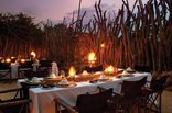 Leopard Hills Private Game Reserve - Leopard Hills Bush Dinner
