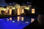 Constantia Garden suites - Poolside at Night