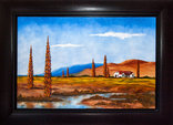 Amani Guest Lodge - Oil on canvas painting by 'Otto' - the owner