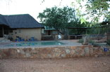 Magorgor Safari Lodge - Pool and Barbeque area