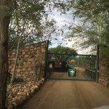 Nyala Safari Lodge - entrance gate