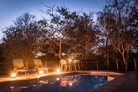 Bundox Safari Lodge - Swimming Pool at Night
