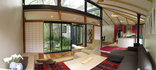 Bamboo Cottage - Open Plan view of Lounge area