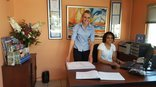 Chez Nous Bed and Breakfast - Our friendly receptionists Sonja and Karina