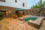 Barrydale Karoo Lodge - Courtyard and Splash Pool