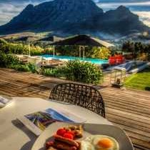 Breakfast & mountain