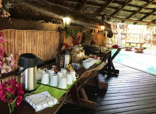 Enjoy a buffet breakfast in the restaurant next to the pool