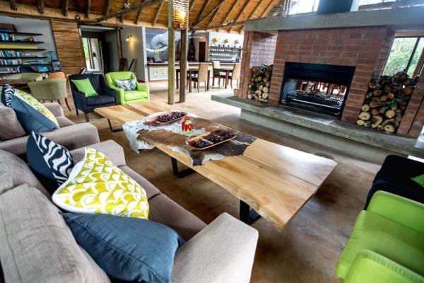 Fire place in the lounge