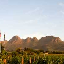 Our view of the Helderberg mountain.