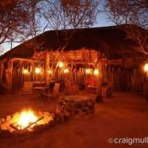 Camp boma dining area