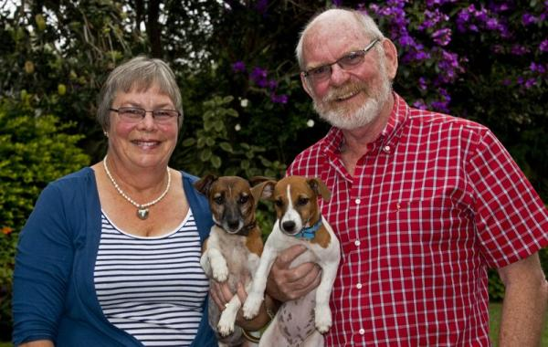 Your Hosts with the ever energetic Jack Russels