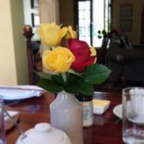 breakfast roses
