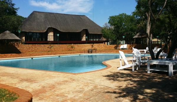 Swimming pool and main lodge