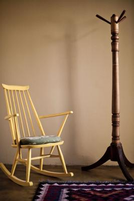 Antique coat stand and chair