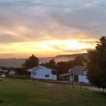 Sunrise on the Africa Silks Farm