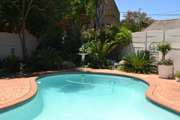 Sparkling Swimming Pool with sundowner deck