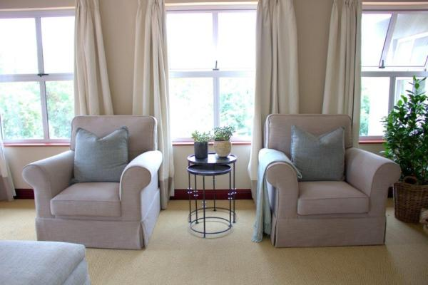 Comfortable armchairs and side table